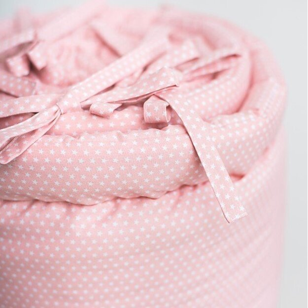 Small Stars Pink Baby Bumper