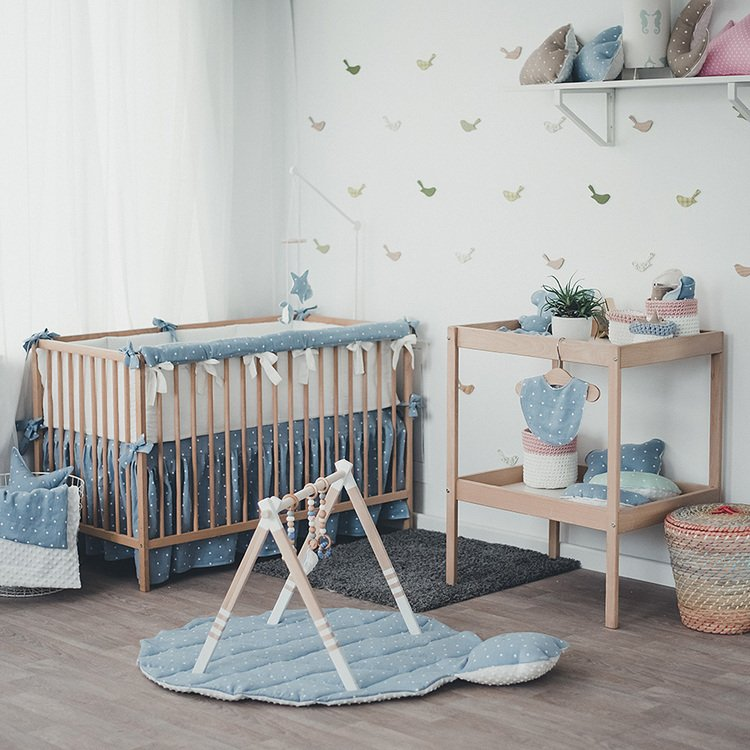Wooden Baby Play Gym WHITE