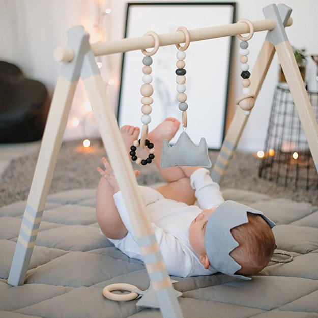 Wooden Baby Play Gym GREY