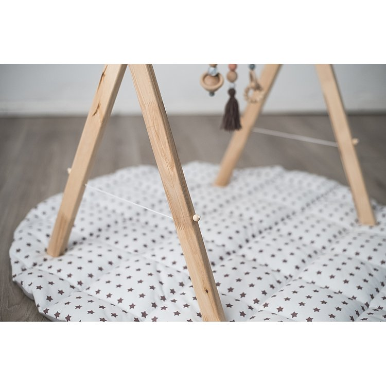 Natural Wooden Baby Gym with String