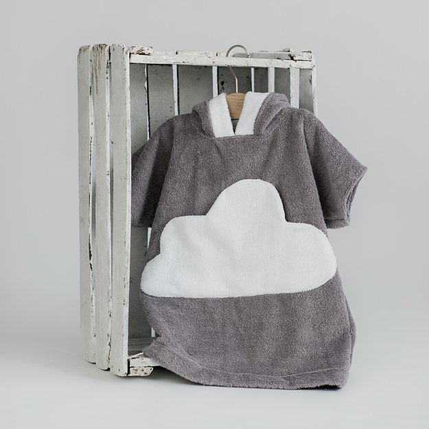 Soft hooded poncho bathrobe for toddler - grey CLOUD pocket | Baby and  toddler nursery accesories, bedding, play gyms, bathrobes
