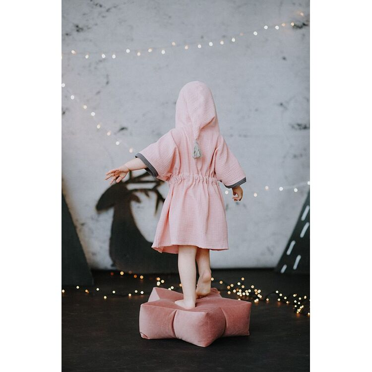 Pink Toddler Poncho with Tassel
