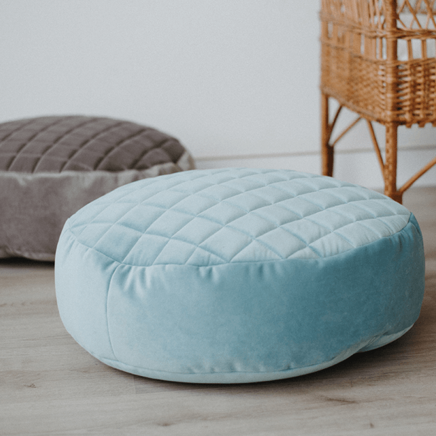 Marvelous Peal Velvet R Round Bean Bag Chair Baby And Toddler Nursery Accesories Bedding Play Gyms Bathrobes Theyellowbook Wood Chair Design Ideas Theyellowbookinfo