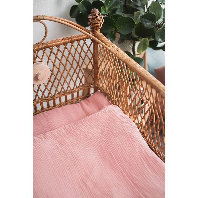 Pink Baby Girl Muslin Duvet and Pillow Covers