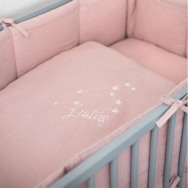 Pink Cot Bed Baby Pillow Case