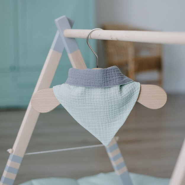 Mint Double Sided Muslin Bib