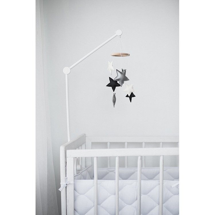 Black and White Small Star Nursery Mobile