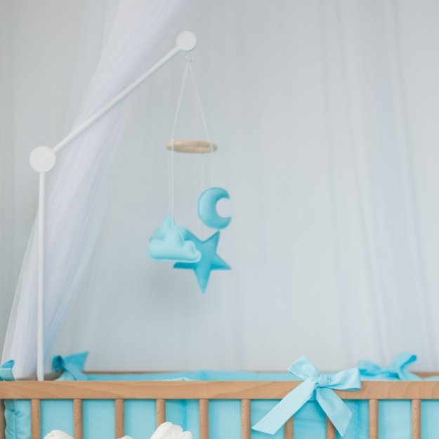 White Crib Mobile Arm Baby Holder And Toddler Nursery Accesories Bedding Play Gyms Bathrobes