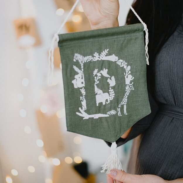 Personalized Dark Green Pennant Banner
