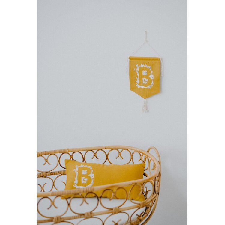 Personalized Mustard Pennant Banner