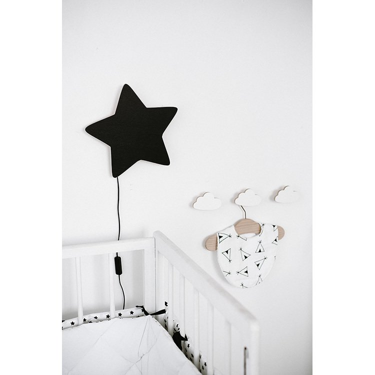 Wooden Cloud nursery hook